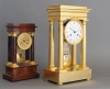 High quality early Empire four pillar mantel clock by Dieudonné Kinable