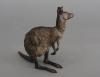 An attractive Vienna Bronze kangaroo, signed Bergman, circa 1900