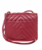 Chanel Red Chevron Quilted Crossbody Bag