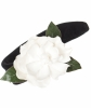 Chanel  Black Velvet & White Camellia Headband - Chanel