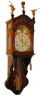 DW22 Frisian short tail clock Amsterdam hood, with date and moon dial