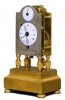 S14 Ormolu and silvered-bronze mantle clock