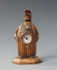 Zappler clock, wooden mascot figure, miniature clock, 'Neuburger & Sohnen à Paris',  circa 1880.