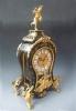 A fine Boulle marquetry mantel clock, gilt bronze ornamentation, Austria circa 1850.