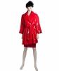 Frans Molenaar Red Patent Trench Coat w Skirt
