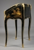 French Louis XV Lacquered Lean-to Writing Desk, J.P. Latz