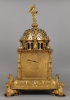 A Hihgly Important German Vertical Astronomical Table Clock, a Tabernacle Clock