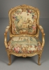 Pair of Louis XV gilt-wood Armchairs from the Waterford Suite, Jean Jacques Tilliard ca. 1765-1770