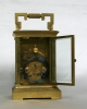 An attractive French brass Anglaise carriage clock with repeat, circa 1880.
