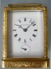 A fine  French carriage clock made and signed Paul Garnier, fire gilt case, no 1748, Paris circa 1840