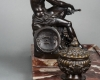 A very imposing 19th century inkwell on a beautiful marble base, circa 1860