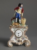A charming small KPM porcelain pendulette, circa 1850