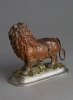 Small Animated Lion Desk Clock, circa 1880