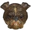 Vienna bronze wall clip of a bulldog head, circa 1900