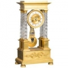 An attractive Charles X ormolu and crystal portico striking 8-day mantel clock
