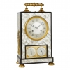 Elegant, High Quality Mantel Clock Decorated with Mother-of-Pearl