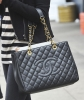 Chanel Black Caviar GST Grand Shopping Tote GHW