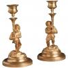 A pair of ormolu dwarf candlesticks, circa 1880