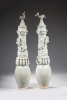 A pair of Chinese Yingqing glazed vases, Song dynasty ceramics from China