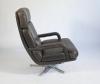 Bernd Münzebrock, Leather Lounge Chair 'Don', type 176, for Walter Knoll, 1970s - Bernd Münzebrock
