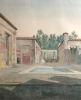 J.M. Knapp: drawing of the House of Sallustius in Pompeii