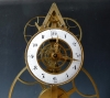 A rare  French Y-framed 'great-wheel' skeleton clock with balance wheel, ca. 1800.