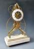 Zeldzame Franse 'groot wiel' Y-frame skeleton klok, met balanswiel,  circa 1800.