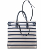 Ralph Lauren Bicolor Striped Nautical Canvas Ricky Tote - Ralph Lauren
