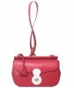 Ralph Lauren Red Leather Carlyle Crossbody Bag