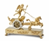 A French Empire mantel clock 'Char de L'Amour'