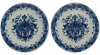 A Pair of Dishes in Blue and White Dutch Delftware