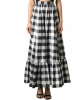 Dolce & Gabbana Gingham Cotton Maxi Skirt