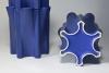 Jan van der Vaart, Blauw geglazuurde multipel tulpentoren, ontwerp 1989, uitvoering 1990 - Jan van der Vaart