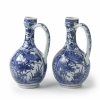 A pair of Arita wine jugs