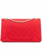 Chanel Red 2.55 Reissue Quilted Classic Jersey 227 Jumbo Flap Bag