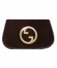 Vintage Gucci Brown Suede Blondie Clutch - Gucci