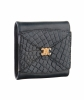 Céline Black Crocodile Leather Coin Purse - Celine