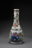 Shunzhi Period Wucai Vase, Chinese Qing Dynasty Antique Porcelain