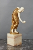 A German Meissen 'art nouveau' gilded bronze by Walter Scott, circa 1900