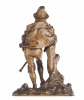 19th Century Cast Bronze of a Dancing Bagpiper