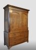 English cabinet, made of oak with mahogany decorations, about 1825.