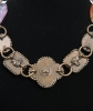 Philippe Ferrandis Gripoix Poured Glass Brown Metal Necklace