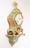 A small French Louis XV corne verte bracket clock, Coutterez A Lyon