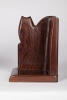 Bernard richters, Set of Amsterdam School sculpted rosewood bookends, ca. 1925 - Bernard (B.J.) Richters
