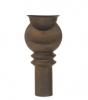 Jan van der Vaart, Bronze glazed stoneware vase, multiple, designed and executed in own studio, 2000 - Jan van der Vaart
