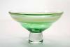 Floris Meydam, Leerdam Unica, Green glass bowl, executed by Leendert van der Linden, 1977 - Floris Meydam