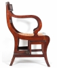 A Regency Mahogany Metamorphic Library Chair/Steps
