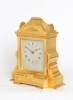 An English engraved 'Cole type' gilt table clock, Manoah Rhodes, circa 1860