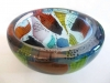 Willem Heesen, Unique glass bowl, from the series 'Carnaval do Rio', Studio de Oude Horn, 1996. - Willem Heesen