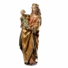 A walnut sculpture of Madonna and child